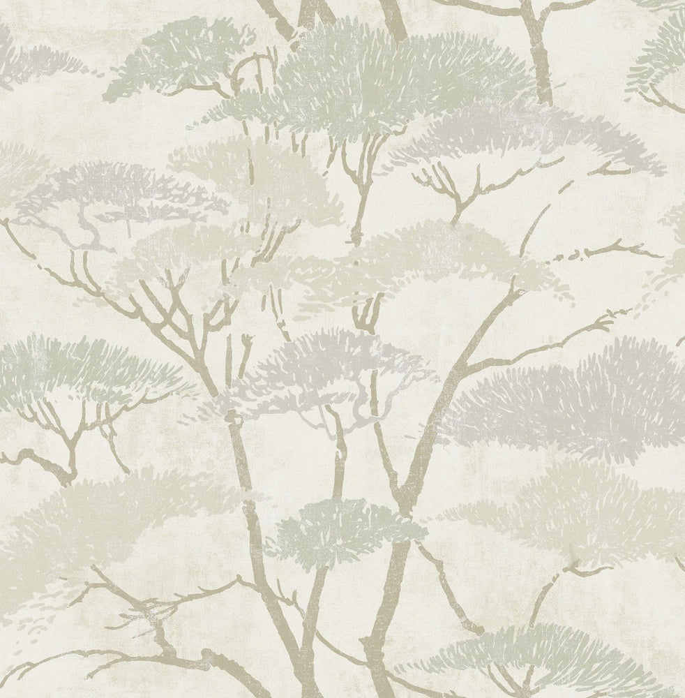 AI41405 confucius tree wallpaper from the Koi collection by Seabrook Designs