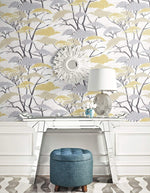 AI41403 confucius tree wallpaper decor from the Koi collection by Seabrook Designs