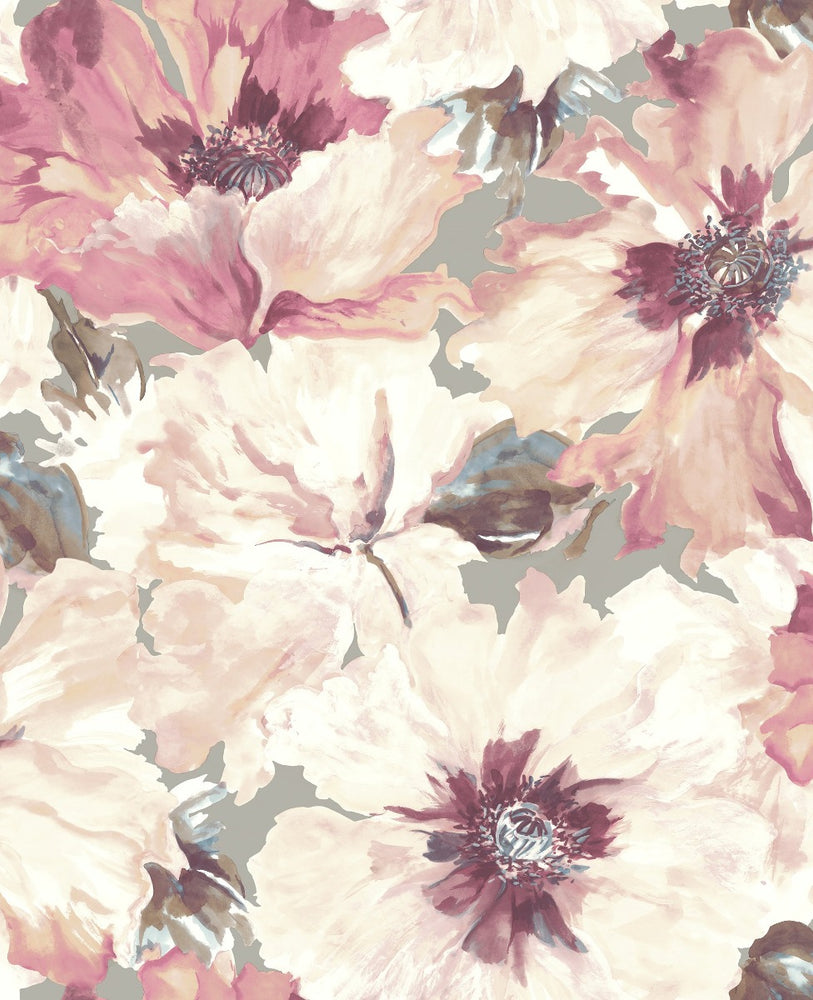 LG90009 Cecita floral wallpaper from the Lugano collection by Seabrook Designs