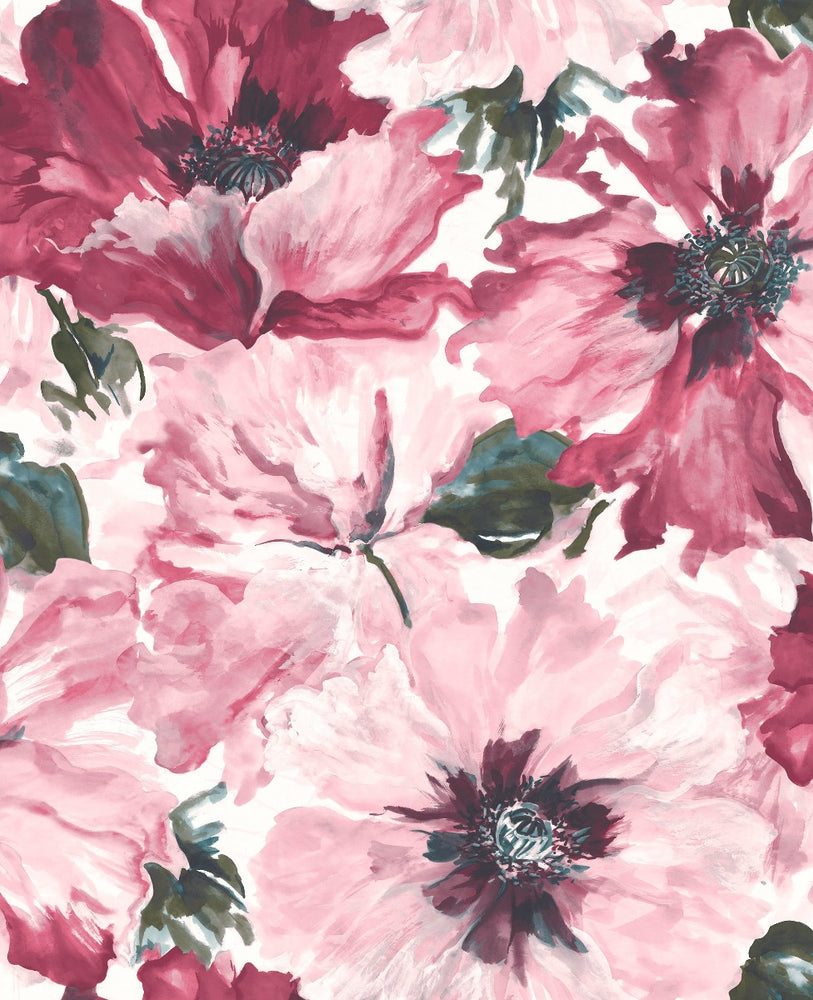 LG90001 Cecita floral wallpaper from the Lugano collection by Seabrook Designs