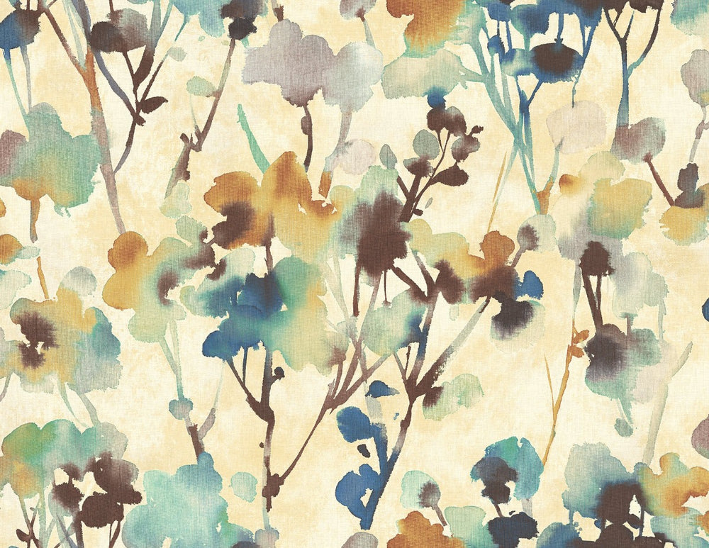 LG91415 Faravel watercolor floral wallpaper from the Lugano collection by Seabrook Designs