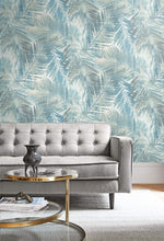 LG90902 Kentmere palm leaf botanical wallpaper decor from the Lugano collection by Seabrook Designs