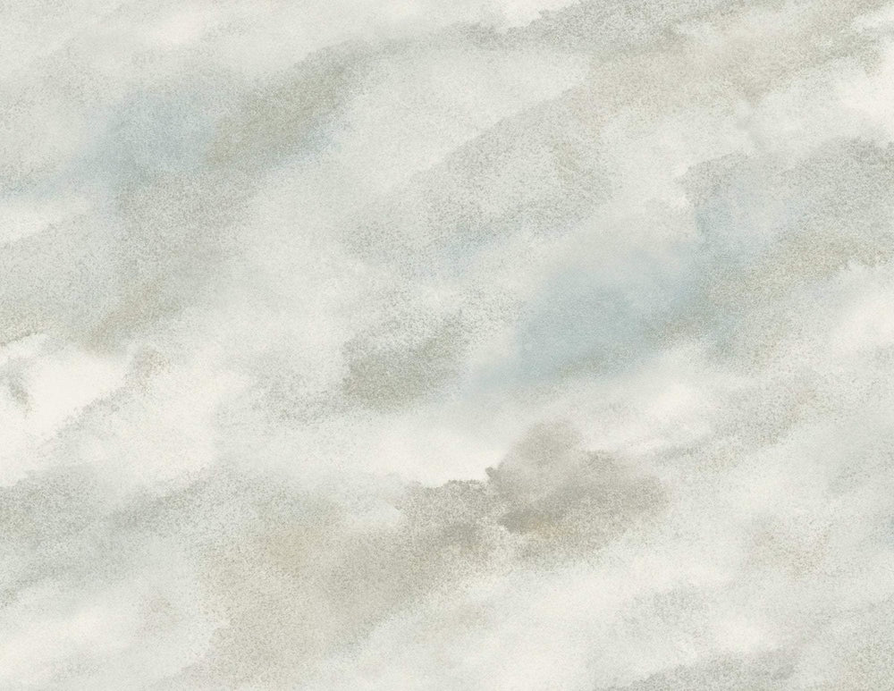 AH41400 neutral cloudy faux abstract wallpaper from the L'Atelier de Paris collection by Seabrook Designs