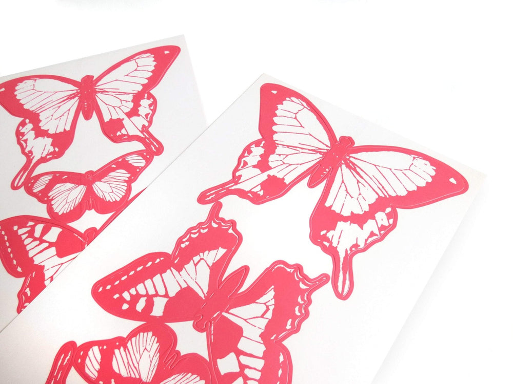 pink butterfly 3d self adhesive wall decals