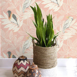 RY30101 paradise island birds bohemian wallpaper from the Boho Rhapsody collection by Seabrook Designs
