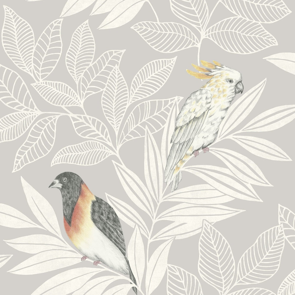 RY30100 paradise island birds bohemian wallpaper from the Boho Rhapsody collection by Seabrook Designs