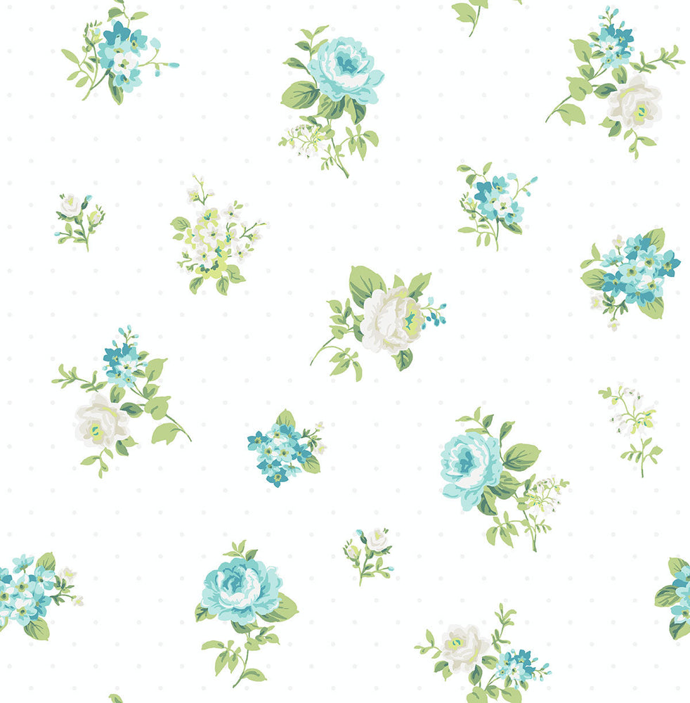 SD20808CH Dena tossed floral unpasted wallpaper