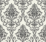 OA22506 washed damask wallpaper from the Indigo collection by Seabrook Designs