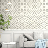 SH70100 Highland Mills geometric wallpaper decor from the New Hampton collection by Seabrook Designs