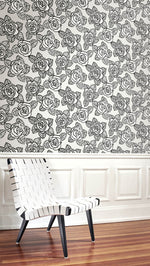 SH70500 Bellvale roses floral wallpaper decor from the New Hampton collection by Seabrook Designs