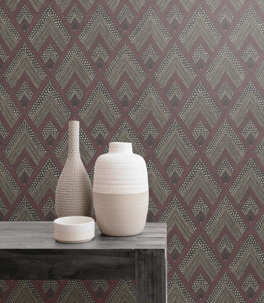 RY30507 boho diamonds wallpaper from the Boho Rhapsody collection by Seabrook Designs