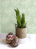 RY30804 paradise leaves botanical wallpaper from the Boho Rhapsody collection by Seabrook Designs