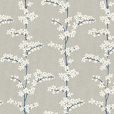 SH70302 blue appleton floral wallpaper from the New Hampton collection by Seabrook Designs