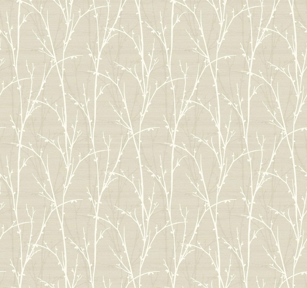 SH71507 deer park twigs botanical wallpaper from the New Hampton collection by Seabrook Designs