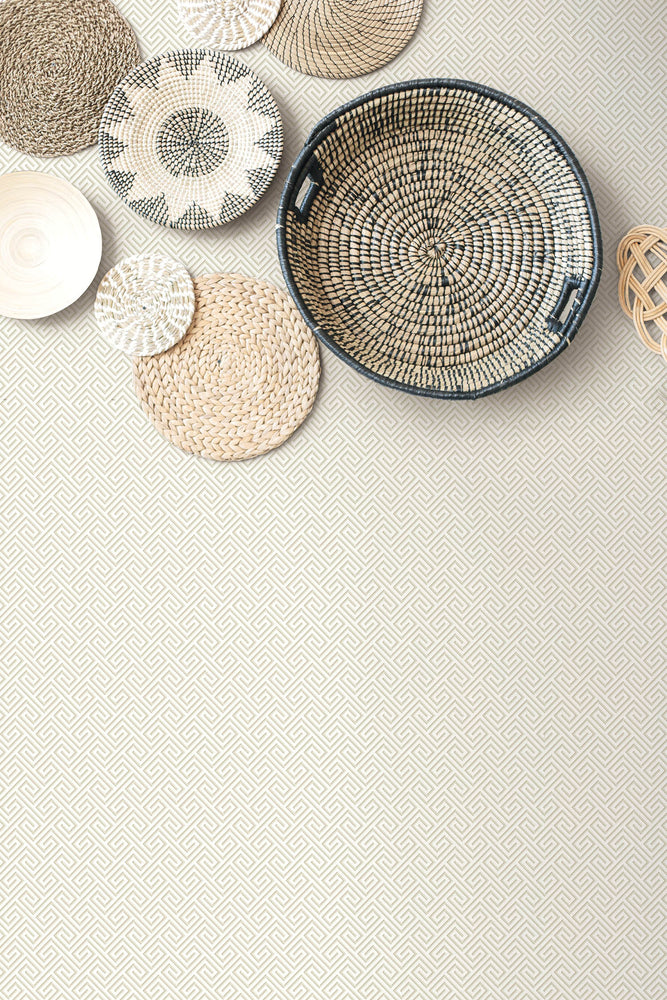 MB32003 basket beach keys geometric wallpaper from the Beach House collection by Seabrook Designs