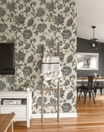 SD00713AR paisley floral bohemian wallpaper decor from Say Decor