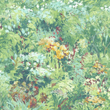 FI70703 green brushstroke garden botanical wallpaper from the French Impressionist collection by Seabrook Designs