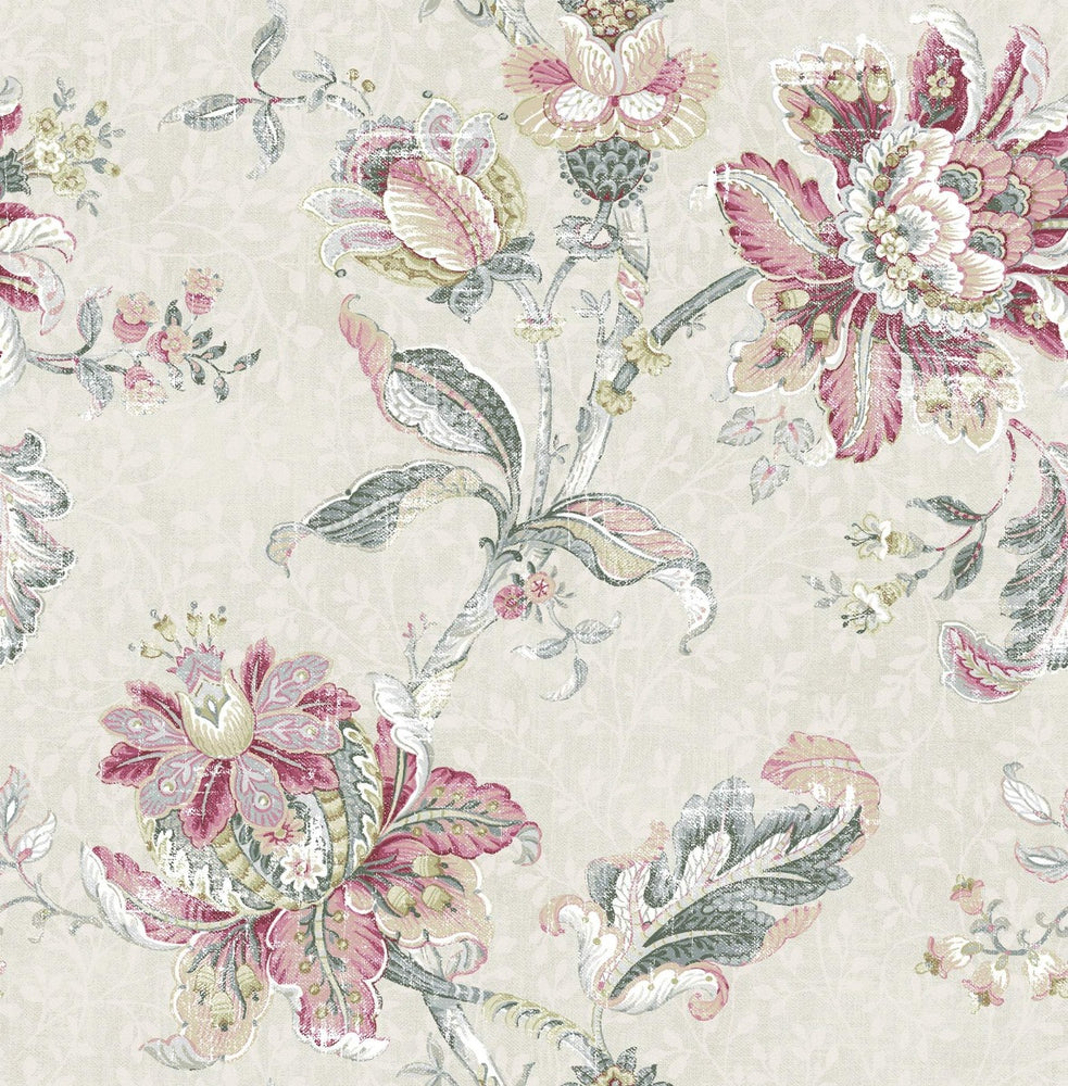 RN70901 jacobean floral wallpaper from Say Decor