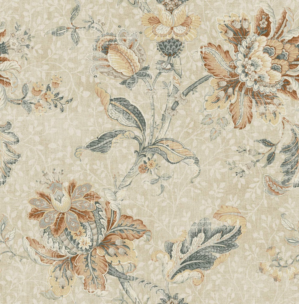 RN70912 jacobean floral wallpaper from Say Decor