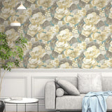 NE50502 Adorn floral wallpaper decor from the Nouveau Luxe collection by Seabrook Designs