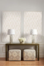 AW70905 diamond geometric wallpaper decor from the Casa Blanca 2 collection by Collins & Company
