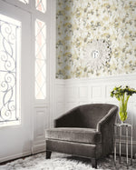 LG91405 Faravel watercolor floral wallpaper decor from the Lugano collection by Seabrook Designs