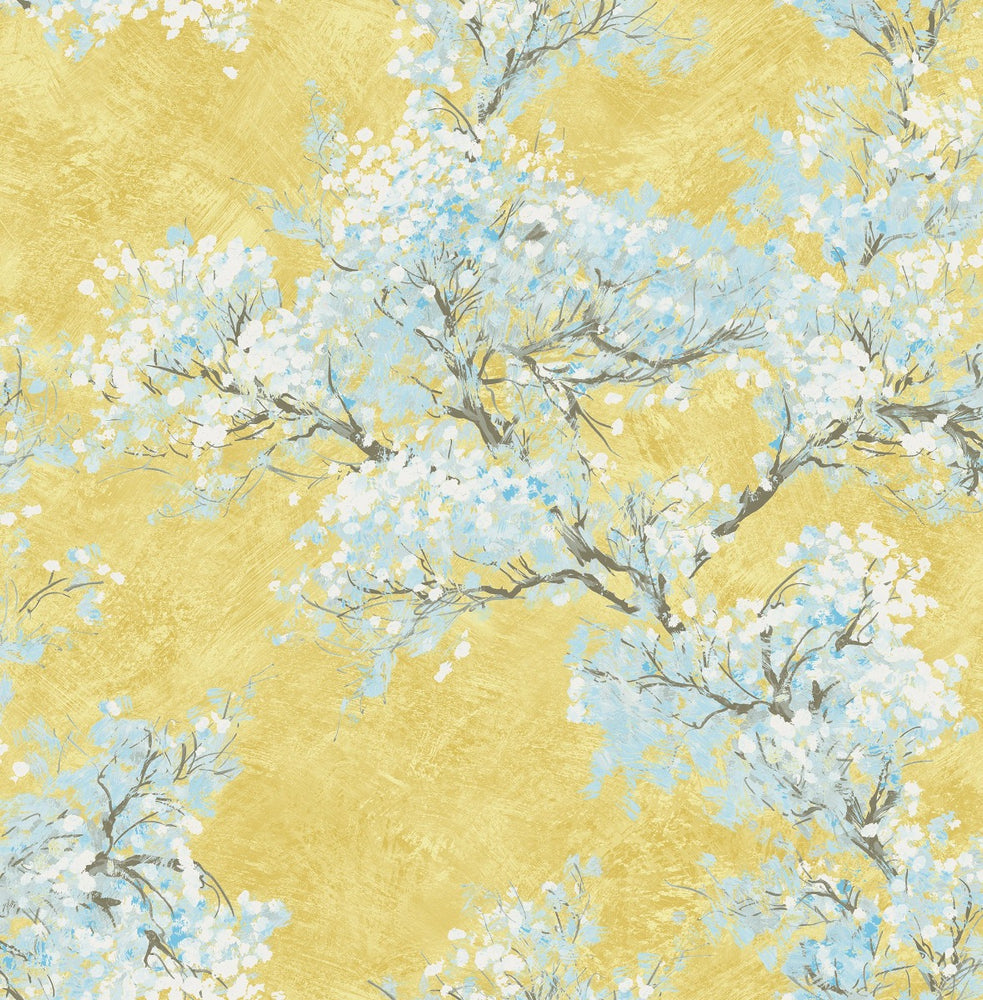 FI71103 cherry blossoms floral wallpaper from the French Impressionist collection by Seabrook Designs