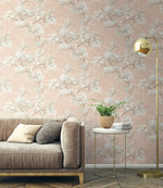 FI71101 cherry blossoms floral wallpaper living room from the French Impressionist collection by Seabrook Designs