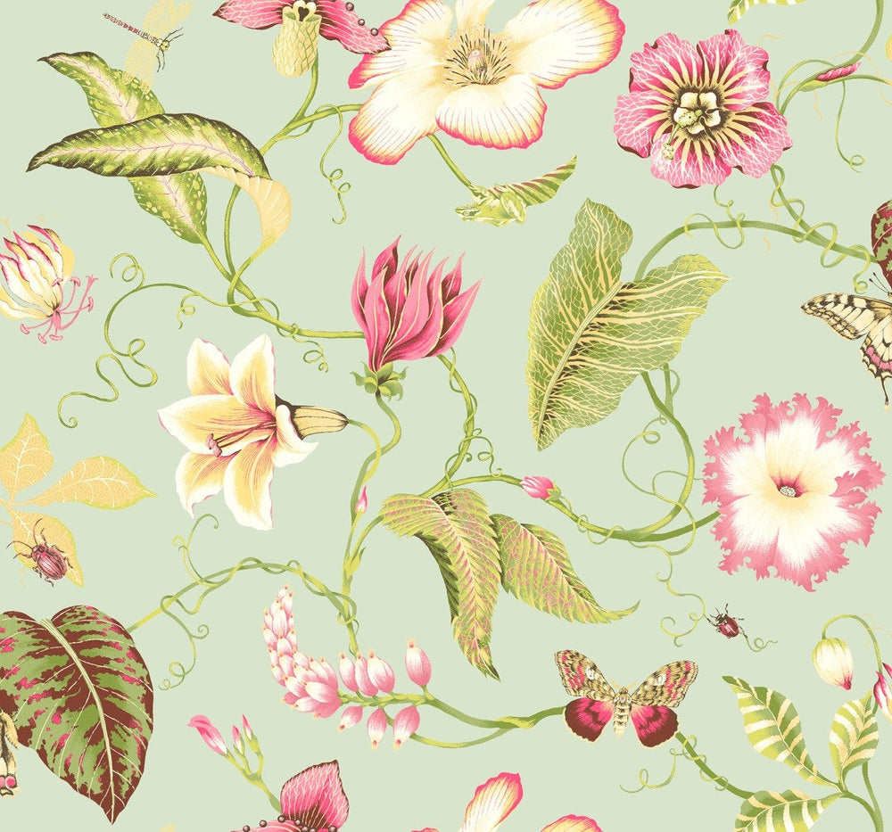SD11004DS Malverna blooming floral trail wallpaper from Say Decor