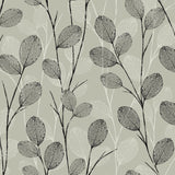 EC50200 leaf skeleton botanical wallpaper from the Eco Chic II collection by Seabrook Designs