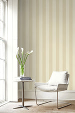 ZZ10200 Dottino striped neutral wallpaper living room from Say Decor