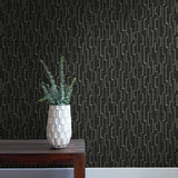 EC51600 maze striped wallpaper decor from the Eco Chic II collection by Seabrook Designs