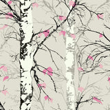 EC52201 birch tree botanical wallpaper from the Eco Chic II collection by Seabrook Designs