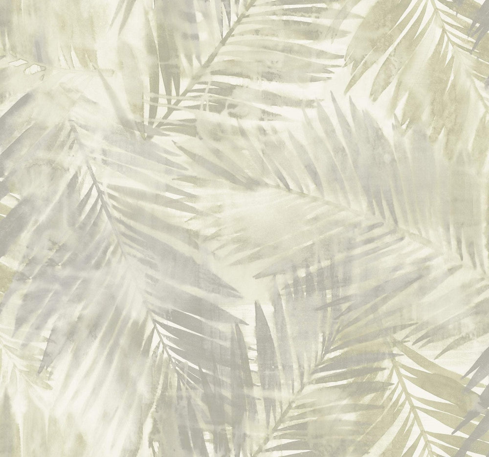 LG90908 Kentmere palm leaf botanical wallpaper from the Lugano collection by Seabrook Designs
