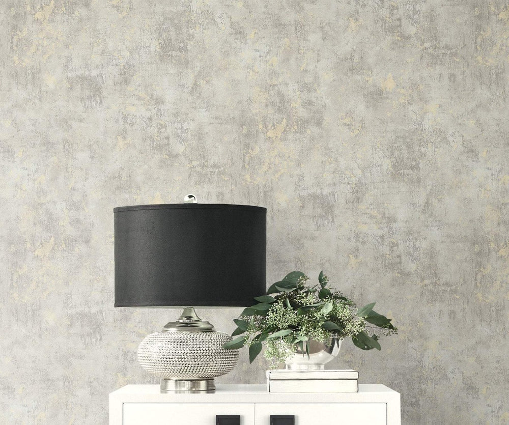 MW32000 Wright stucco faux wallpaper decor from the Metalworks collection by Seabrook Designs