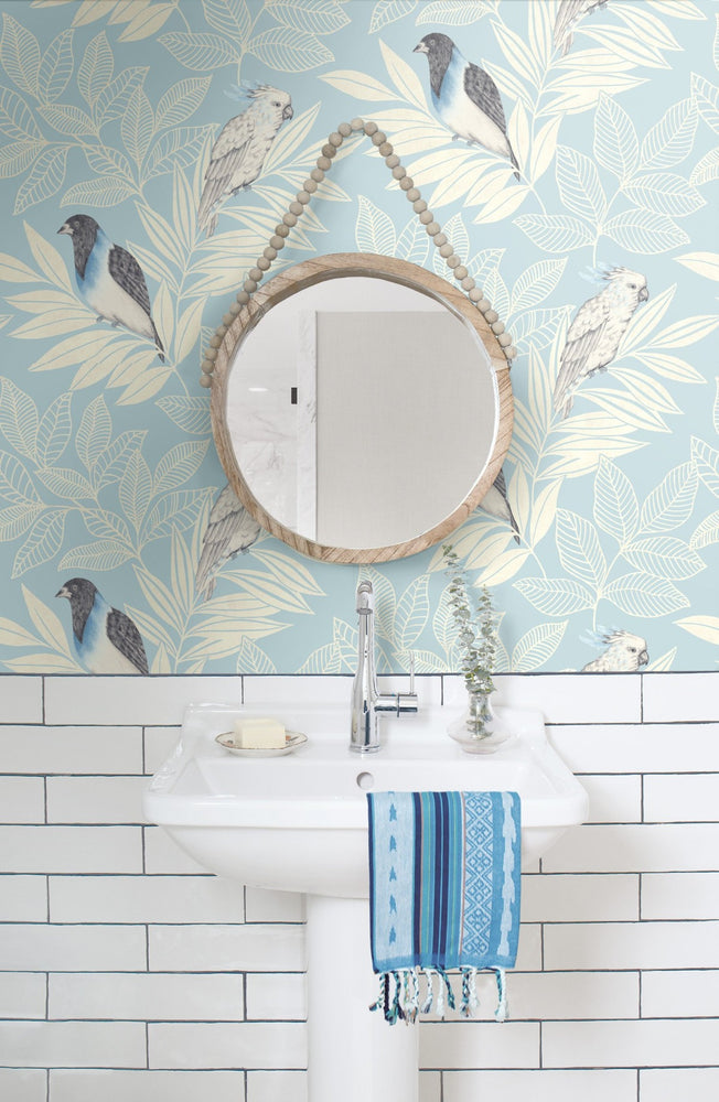 RY30102 paradise island birds bohemian wallpaper from the Boho Rhapsody collection by Seabrook Designs