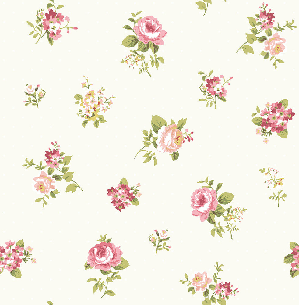 SD80808CH Dena tossed floral unpasted wallpaper