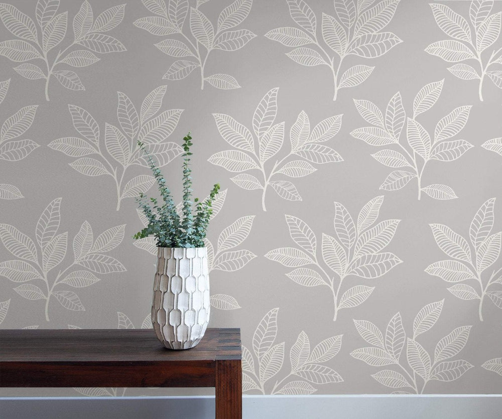 RY30800 paradise leaves botanical wallpaper from the Boho Rhapsody collection by Seabrook Designs
