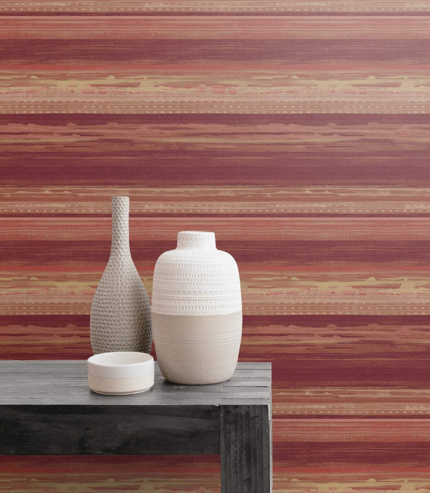 RY31311 horizon brushed stripe wallpaper from the Boho Rhapsody collection by Seabrook Designs