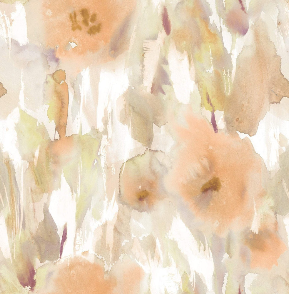 AH40403 watercolor floral wallpaper from the L'Atelier de Paris collection by Seabrook Designs