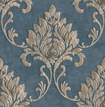 MT81602 Telluride damask wallpaper from the Montage collection by Seabrook Designs