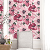 LG90001 Cecita floral wallpaper decor from the Lugano collection by Seabrook Designs