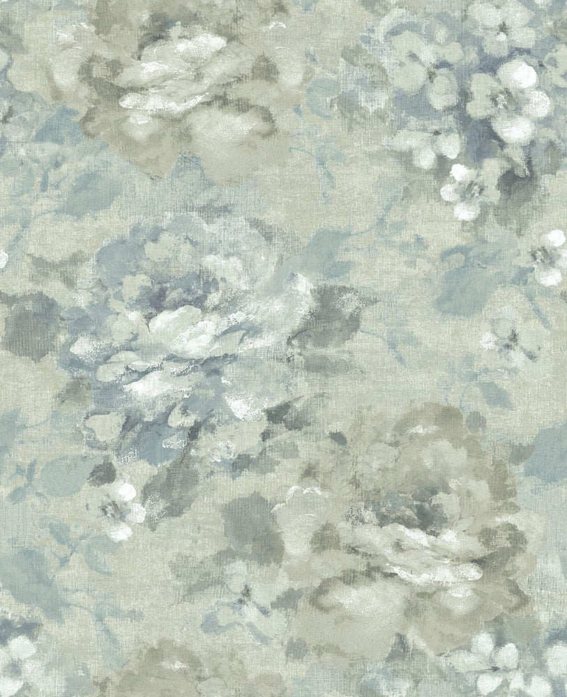 AR30502 brushstroke garden floral wallpaper from the Nouveau collection by Seabrook Designs