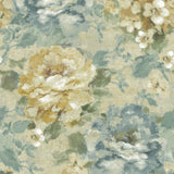 AR30503 brushstroke garden floral wallpaper from the Nouveau collection by Seabrook Designs