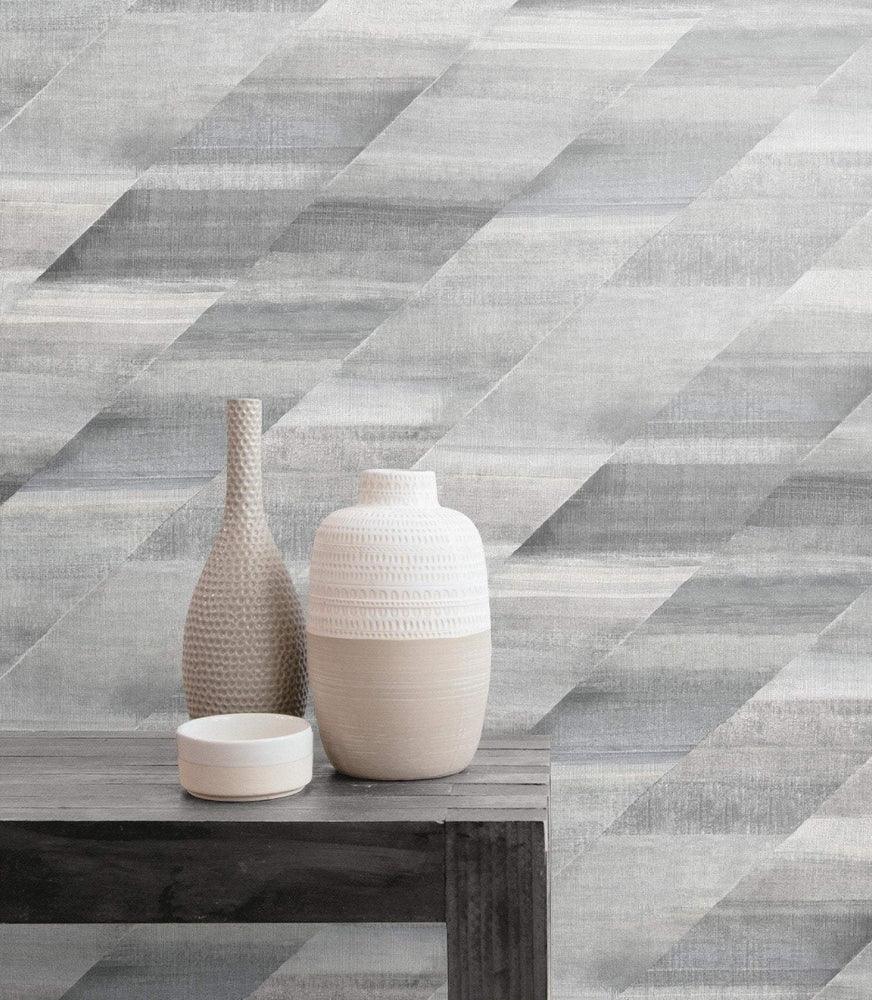 RY30310 rainbow diagonals striped wallpaper from the Boho Rhapsody collection by Seabrook Designs