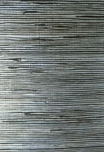 EL308 ebony and silver jute grasscloth from the Natural Resource collection by Seabrook Designs