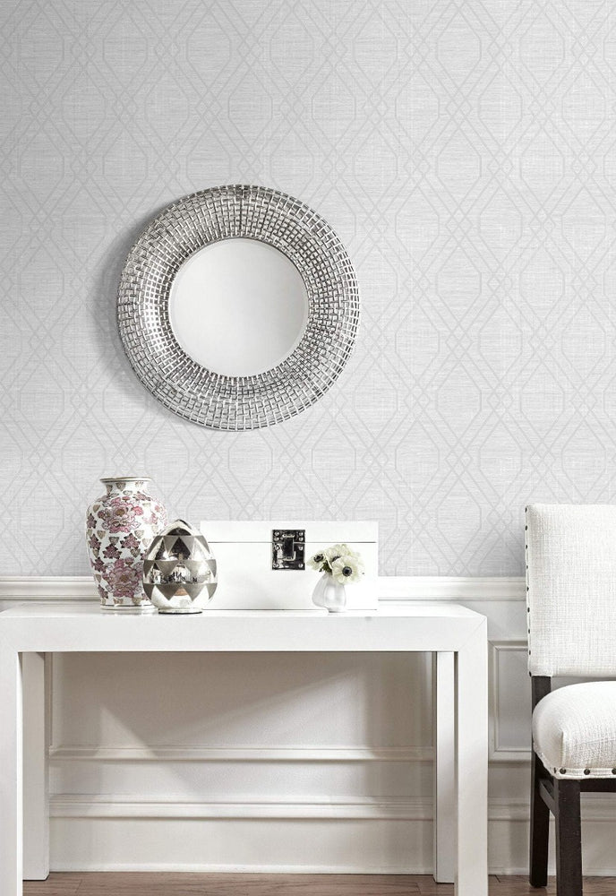 AW74211 stringcloth geometric wallpaper decor from the Casa Blanca 2 collection by Collins & Company