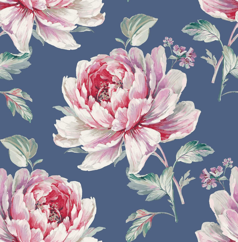 CR21311 Jarrow peony floral wallpaper from the Island collection by Carl Robinson