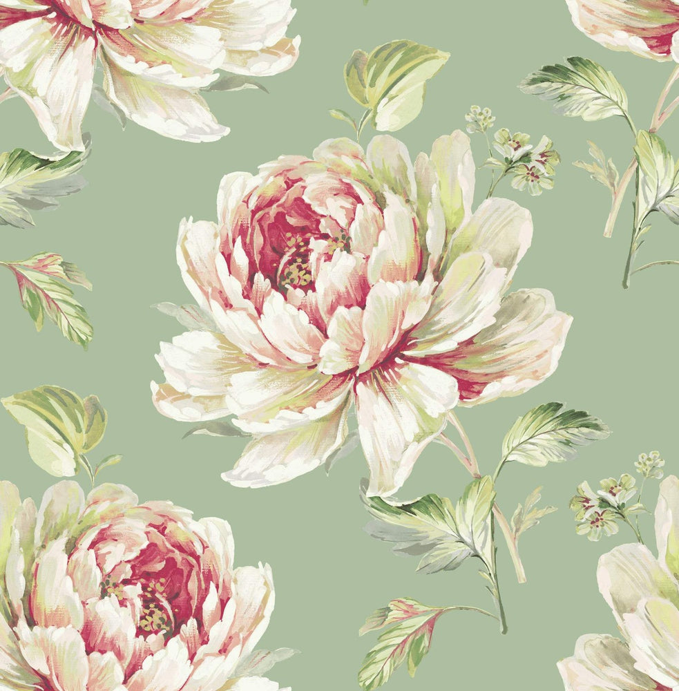 CR21304 Jarrow peony floral wallpaper from the Island collection by Carl Robinson