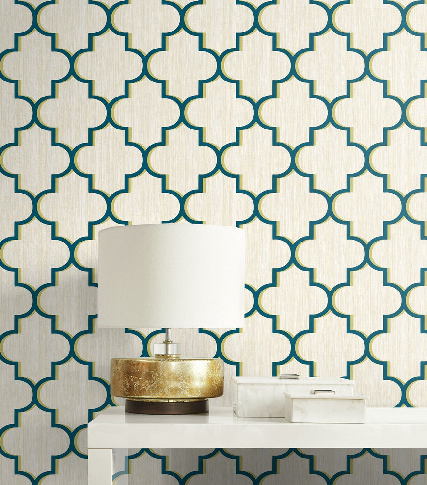 GT20602 Agate lattice geometric wallpaper decor from the Geo collection by Seabrook Designs